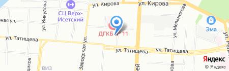 Семерка на карте Екатеринбурга