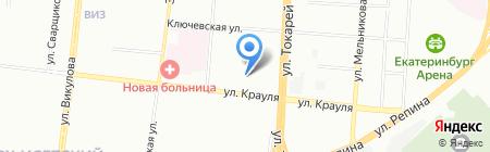 Средняя общеобразовательная школа №74 с углубленным изучением отдельных предметов на карте Екатеринбурга