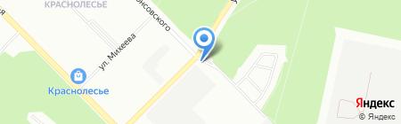 Нордвэй на карте Екатеринбурга