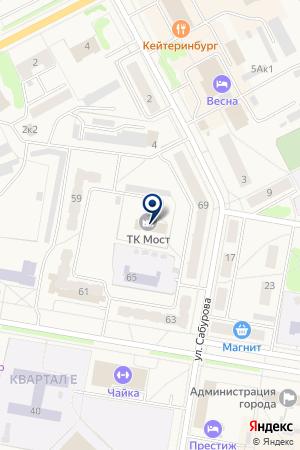 БАНК БАНК МОСКВЫ (ОТДЕЛЕНИЕ N 1) на карте Верхней Салды