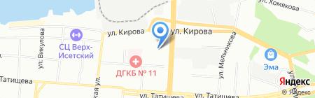 А Байт на карте Екатеринбурга