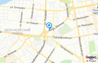 Местоположение на карте пункта техосмотра по адресу г Екатеринбург, ул Гурзуфская, стр 48