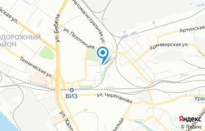 Местоположение на карте пункта техосмотра по адресу г Екатеринбург, ул Крупносортщиков, стр 14