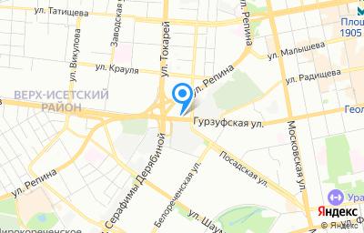 Местоположение на карте пункта техосмотра по адресу г Екатеринбург, ул Гурзуфская, д 48