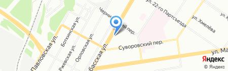 Урал на карте Екатеринбурга