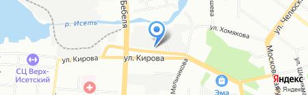 Комфорт на карте Екатеринбурга