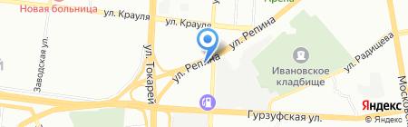 Шальная пена на карте Екатеринбурга