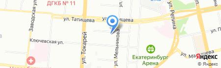 Тепловик на карте Екатеринбурга