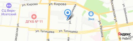 Велодилер на карте Екатеринбурга