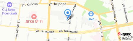 Крепость на карте Екатеринбурга