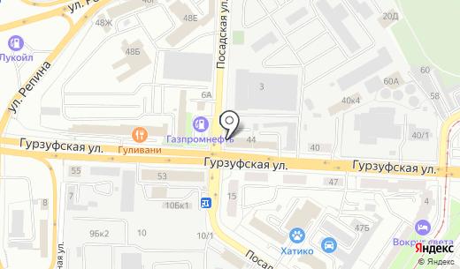 Архитектоника. Схема проезда в Екатеринбурге