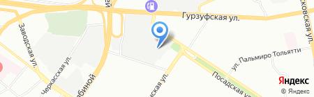 Савитар на карте Екатеринбурга