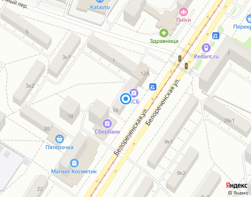 Товарищество собственников жилья «ТСН №14» на карте Екатеринбурга