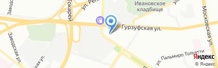 Стенд Урал на карте Екатеринбурга