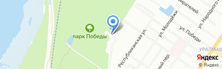 Республиканские бани на карте Екатеринбурга