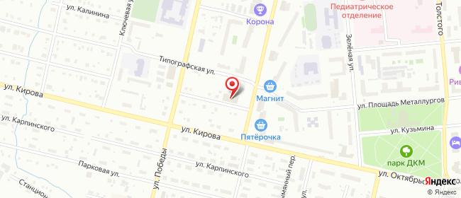 Карта расположения пункта доставки СИТИЛИНК в городе Серов