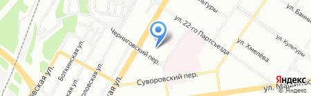 Средняя общеобразовательная школа №117 на карте Екатеринбурга
