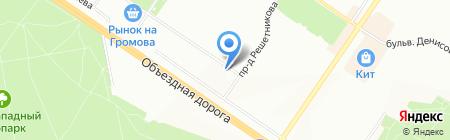 РусИнтерТекстиль-Екатеринбург на карте Екатеринбурга