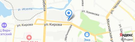 Диваниум на карте Екатеринбурга