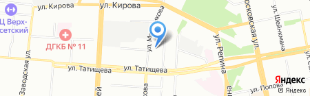 Детский сад №368 на карте Екатеринбурга