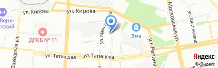 Эллада на карте Екатеринбурга