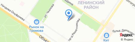 Средняя общеобразовательная школа №140 с углубленным изучением отдельных предметов на карте Екатеринбурга