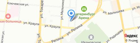 Роттердам на карте Екатеринбурга