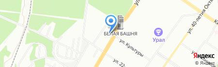 Автомобильные подлокотники на карте Екатеринбурга