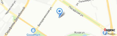 GLЯNЕЦ на карте Екатеринбурга