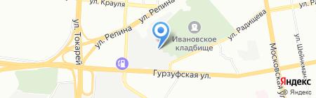 СТО на карте Екатеринбурга