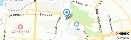 Средняя общеобразовательная школа №1 на карте Екатеринбурга