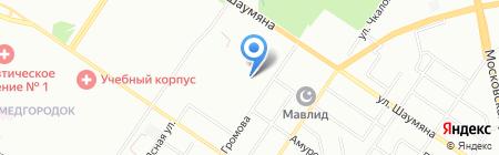 Миллениум на карте Екатеринбурга