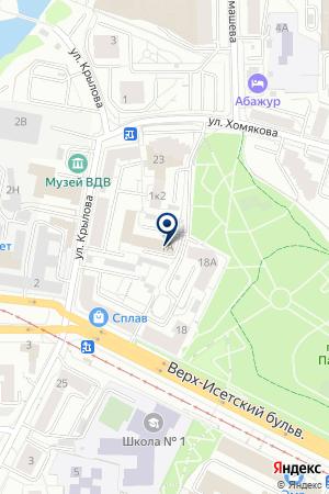 ГИБДД УВД пог. Екатеринбургу на карте Екатеринбурга