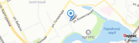Вечерний город на карте Екатеринбурга