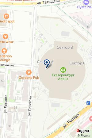 Баньян на карте Екатеринбурга
