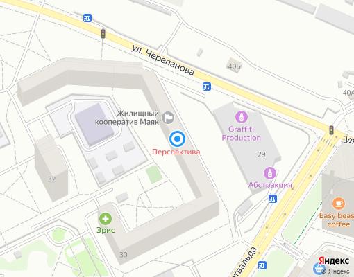 Жилищно-строительный кооператив «Маяк» на карте Екатеринбурга