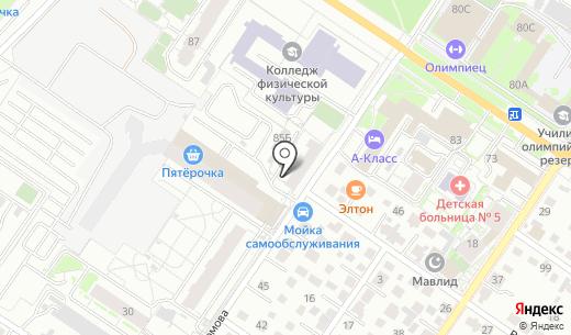 Екарта. Схема проезда в Екатеринбурге