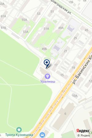 КУРАЖ на карте Екатеринбурга