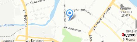 Детский сад №414 Солнышко на карте Екатеринбурга