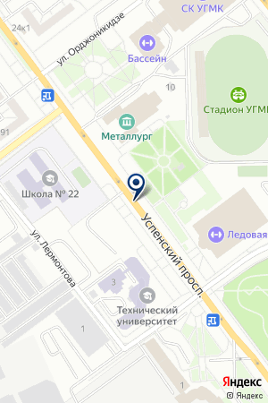 Ледовая арена имени Александра Козицына на карте Екатеринбурга