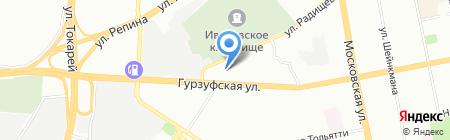Дарена на карте Екатеринбурга