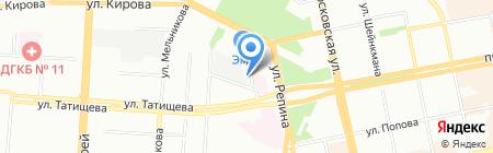 Инкцентр на карте Екатеринбурга