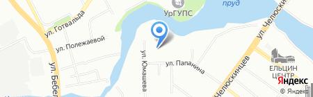 Уралдез на карте Екатеринбурга