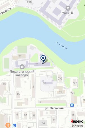 Спорт-центр, Свердловский областной педагогический колледж на карте Екатеринбурга