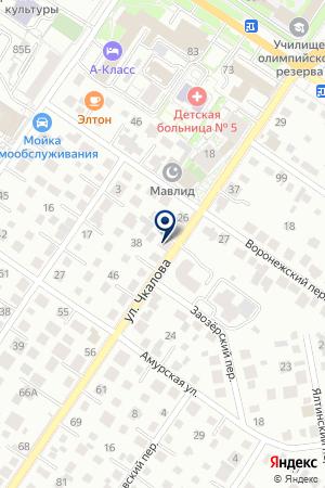 Баня наул. Чкалова 34 на карте Екатеринбурга