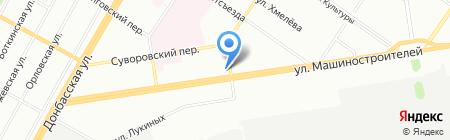 Стрекоза на карте Екатеринбурга