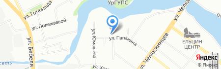 Конфетти на карте Екатеринбурга