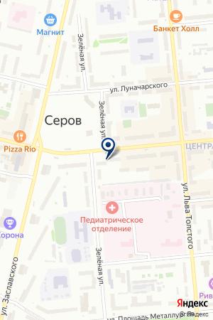БАНКОМАТ МДМ-БАНК на карте Серова