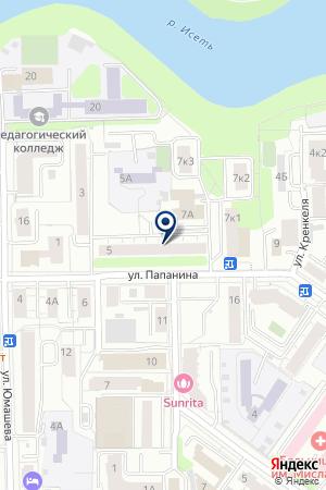 Макетти на карте Екатеринбурга