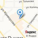 АвиаСервис-Екатеринбург на карте Верхней Пышмы